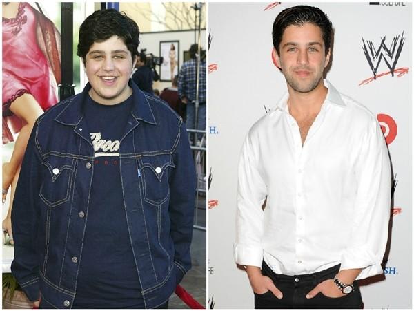 Josh Peck em 2004 e 2013 (Foto: Getty Images)