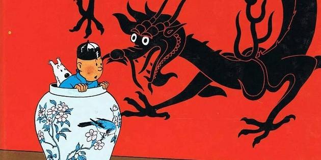 O Lótus Azul: um dos mais famosos quadrinhos das Aventuras de Tintim.
