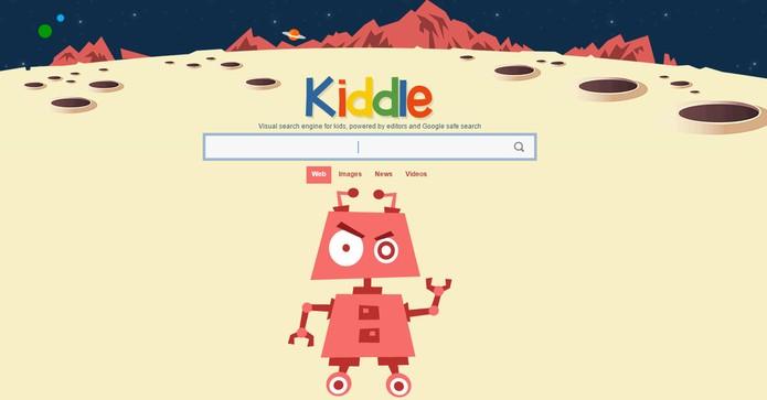 Site Kiddle tem interface colorida e permite filtrar resultados para crianças (Foto: Reprodução/Barbara Mannara)