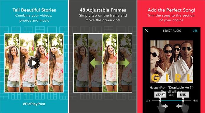 PicPlayPost é um aplicativo de montagens para Windows Phone que cria mosaicos animados (Foto: Divulgação/Windows Phone Store)