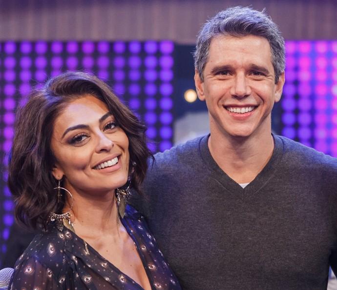 Ju e Marcio estarão juntos na estreia do Tamanho Família (Foto: Artur Meninea/TV Globo)