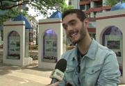 Em entrevista, Marcelo contou que está recebendo muito carinho, nas ruas (Foto: Reprodução/RPC)