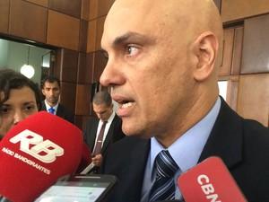 Ministro Alexandre de Moraes concede entrevista coletiva em São Paulo (Foto: Tahiane Stochero/G1)