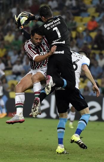 Fluminense x Grêmio, Maracanã, Fred e Marcelo Grohe (Foto: André Durão)