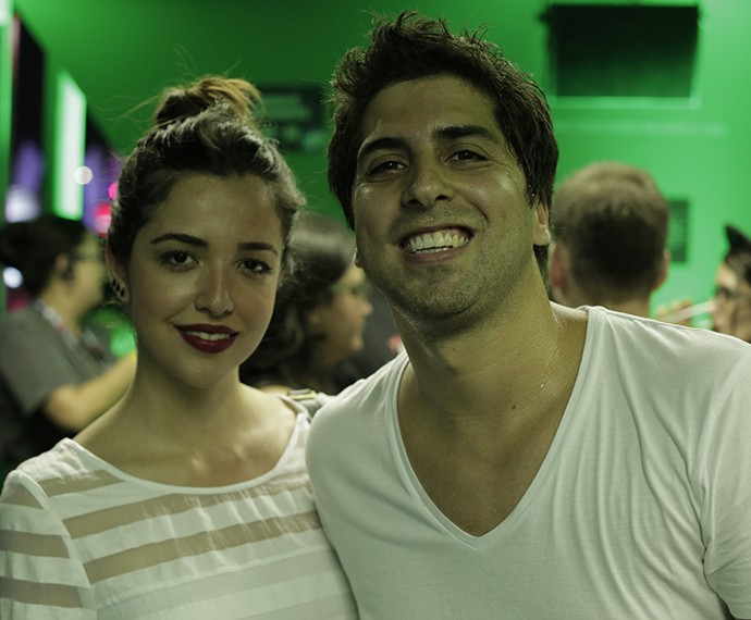 Gabriel Louchard e a noiva Natália Lopes (Foto: Carlos Cardeal / Gshow)