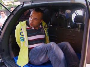 Irmão do Andinho é preso suspeito de participar de roubo a banco em Campinas (Foto: Reprodução / EPTV)