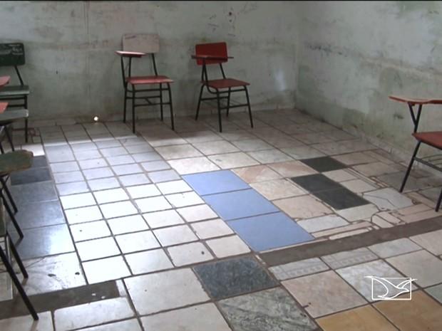 Falta de estrutura levou prefeitura à decisão de fechar 3 escolas em Codó (Foto: Reprodução/TV Mirante)