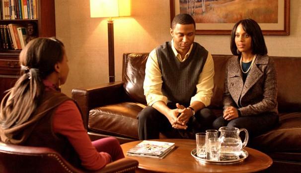 Lucy (Kerry Washington) não consegue engravidar e recorre à adoção (Foto: Divulgação/Reprodução)