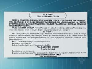 Lei foi publicada no Diário Oficial (Foto: Renan Fiuza/TV Tribuna)
