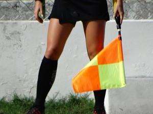 Árbitra Fernanda Colombo  (Foto: Vital Florêncio / GloboEsporte.com)