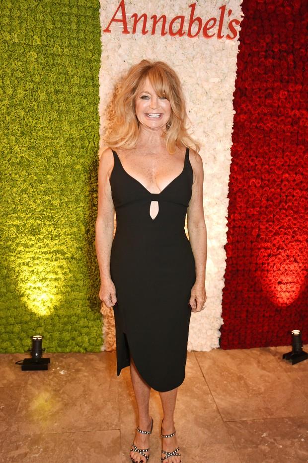 Goldie Hawn em festa em Londres, na Inglaterra (Foto: David M. Benett/ Getty Images)