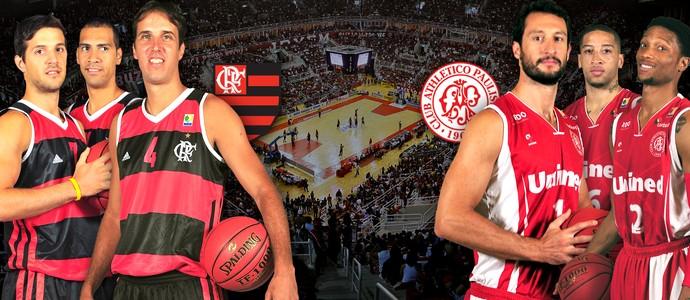 NBB Flamengo x Paulistano Interatividade basquete 2 (Foto: Arte / Globoesporte)
