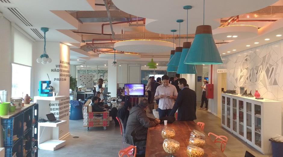 Espaço Nave: local serve para estudantes criarem empresas inovadoras (Foto: Fabiano Candido)