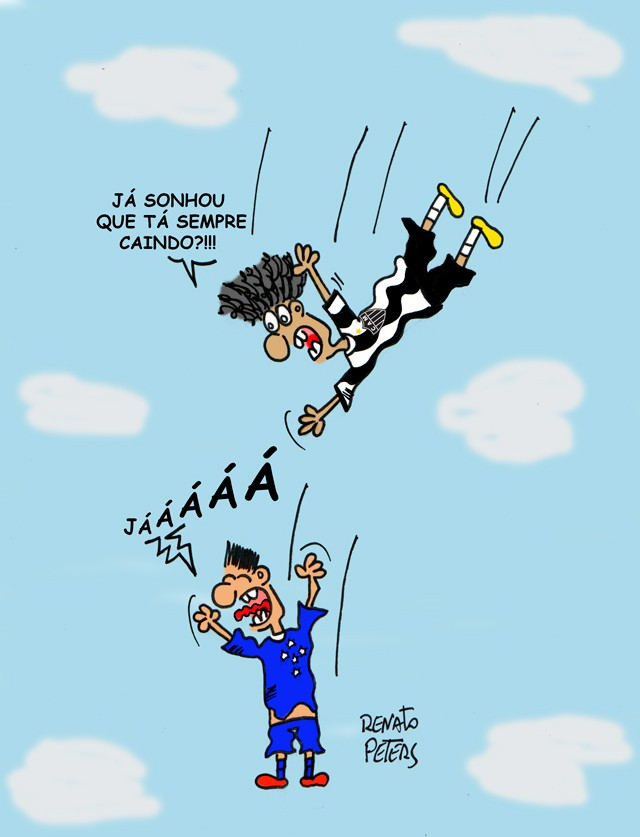 Queda livre - Charge Peters
