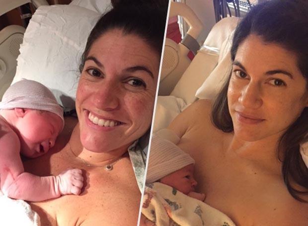 As irmãs logo após o parto  (Foto: Arquivo pessoal)