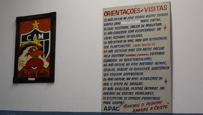 Apac de Santa de Luzia, onde Bruno está preso (Foto: Bernardo Pombo e Luiz Claudio Amaral)