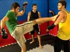 Parceiros em cena, Thiago Rodrigues e Eriberto Leão treinam MMA juntos