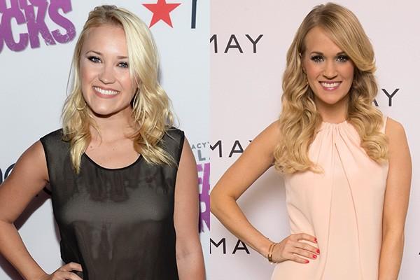 Lembra da Lily, a melhor amiga da Miley em 'Hannah Montana'? Ela cresceu e bem que poderia interpretar a irmã mais nova da cantora Carrie Underwood, não? (Foto: Getty Images)