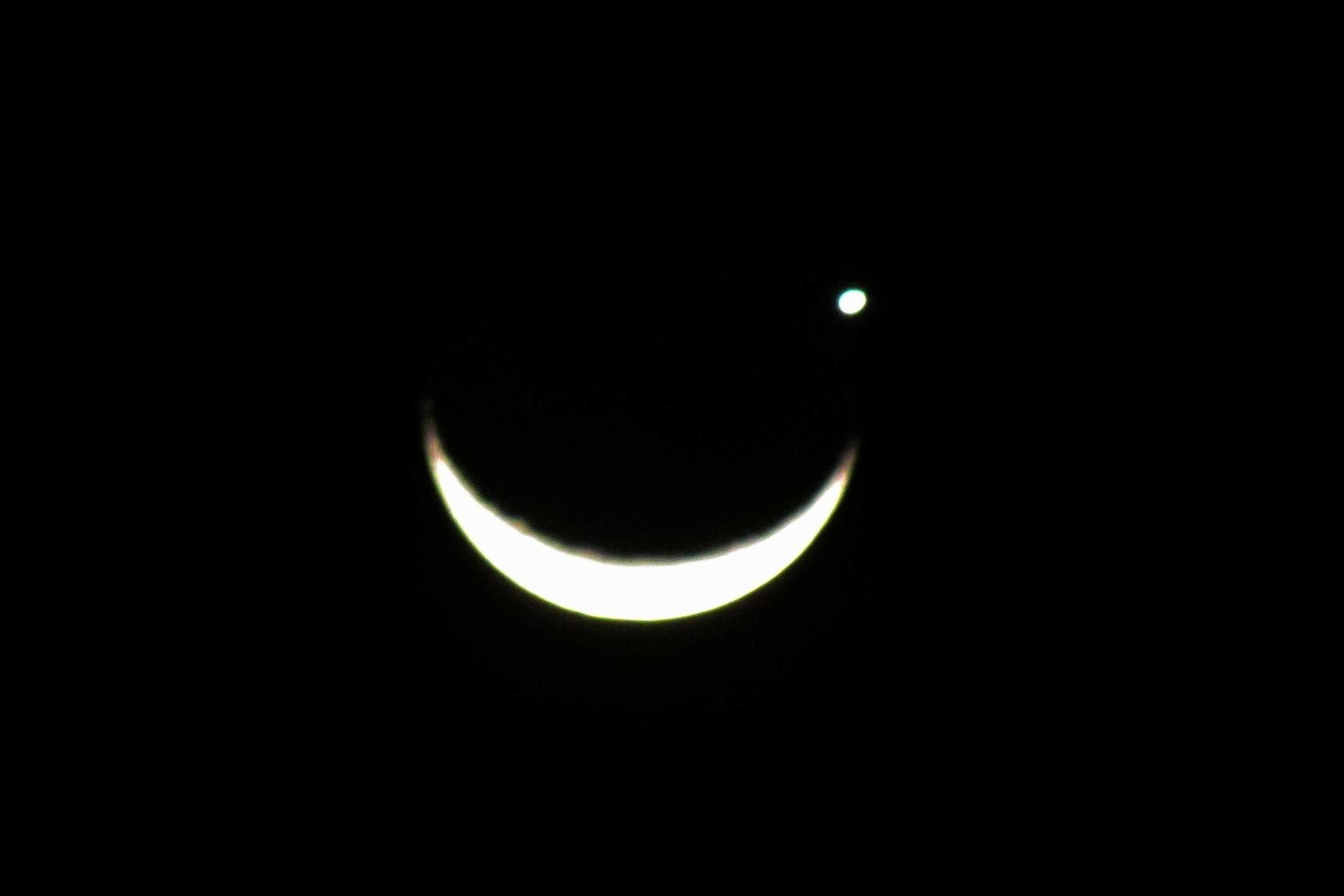 Ocultação de Vênus pela Lua é vista em Porto Alegre (Foto: Ricardo Fabrello/Futura Press/Estadão Conteúdo )