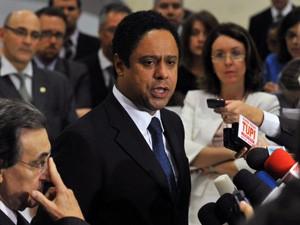 Orlando Silva ao anunciar que deixava o governo, em outubro de 2011 (Foto: Fabio Pozzebom / Ag. Brasil)