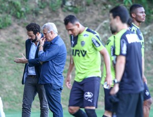 Atlético-MG; Daniel Nepomuceno; Eduardo Maluf (Foto: Bruno Cantini/CAM)