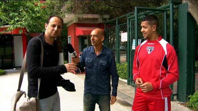 Rogério Ceni, Regis Rösing e Ãntonio Carlos (Foto: Reprodução TV Globo)