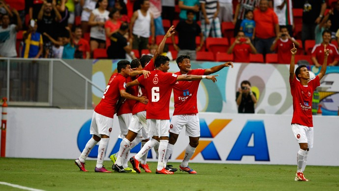 Gilmar gol Brasilia Copa Verde (Foto: Adalberto Marques)
