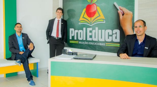 Pettrus Nascimento, Rafael Amorim de Paiva  e Petrus Vieira, proprietários da Prol Educa  (Foto: divulgação)