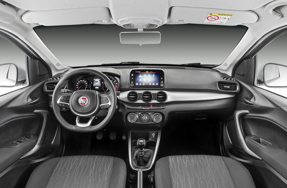 Interior do Fiat Argo (Foto: Divulgação)