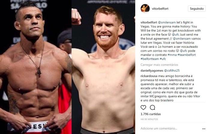 Vitor Belfort Sam Alvey UFC (Foto: Reprodução Internet)