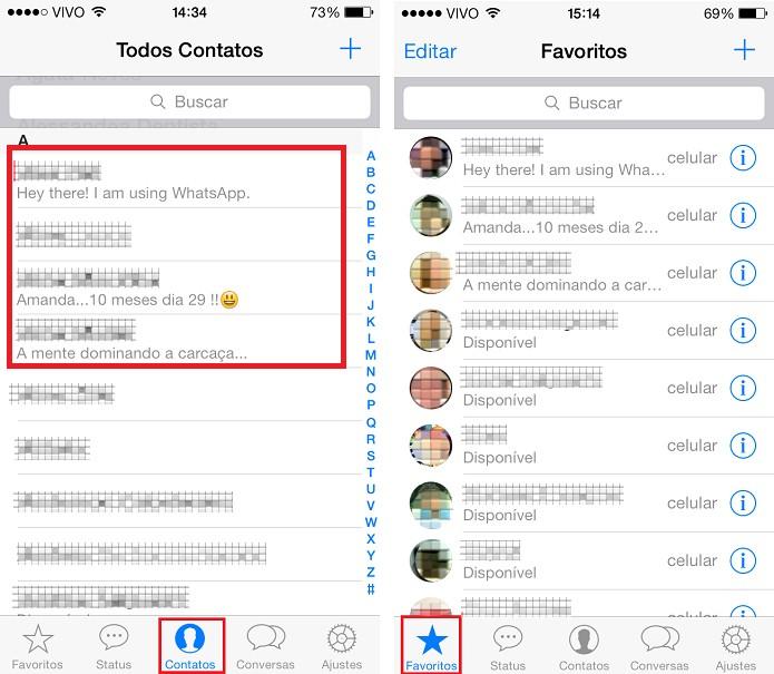 Identificando contatos no WhatsApp (Foto: Aline Jesus/Reprodução)