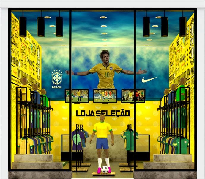 lojas oficiais da CBF - Neymar (Foto: Divulgação)