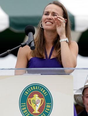 Tenis Martina Hingis Hall da Fama (Foto: AP)