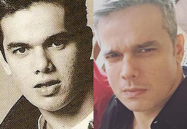 Otaviano Costa em 1991, na época da MTV, e atualmente (Foto: Reprodução/Instagram)
