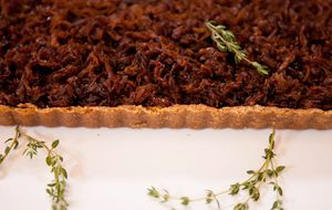 Torta de cebola caramelizada da Bela Gil
