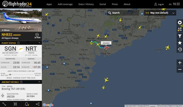 Mapa mostra trajeto do avião em tempo real (Foto: Reprodução/Daniela Ferrari)