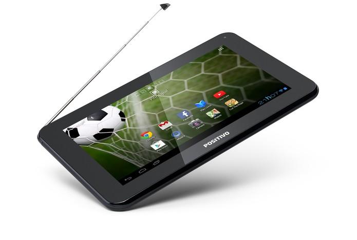 Positivo T701 TV é um tablet com TV Digital, tela de sete polegadas e Android Jelly Bean (Foto: Divulgação/Positivo)