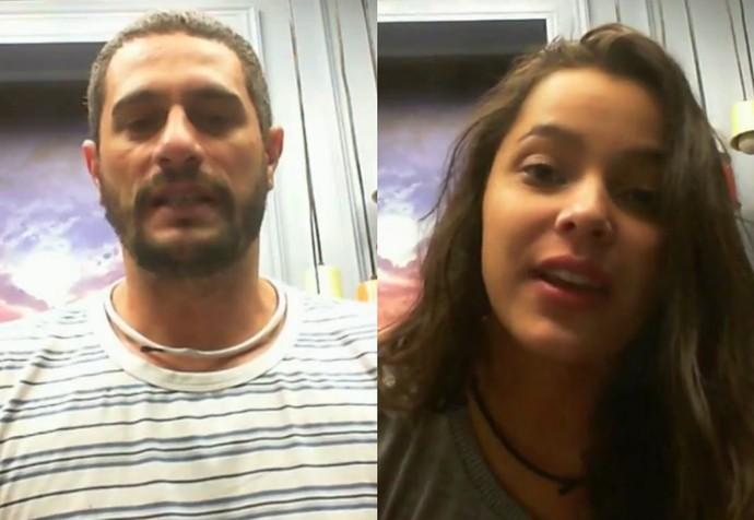 Daniel e Emilly mandam seus recados no Raio-X (Foto: Gshow)