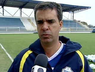 Júnior Lopes, técnico do Macaé (Foto: Reprodução / Inter TV)