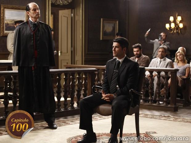 No banco dos réus! Franz vai a julgamento pelo assassinato de Sílvia (Foto: Inácio Moraes/TV Globo)