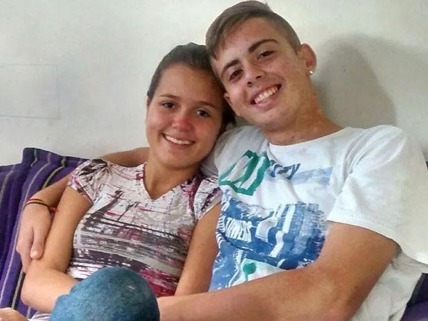 Letícia e Luan saíram de casa, em Nova Iguaçu, no domingo (27) (Foto: Alex Monteiro / Arquivo pessoal)