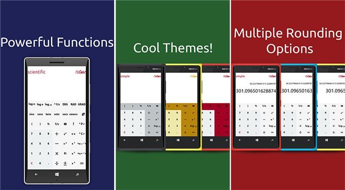 10Calc é uma calculadora completa para Windows Phone com suporte a cálculos complexos (Foto: Divulgação/Windows Phone Store)