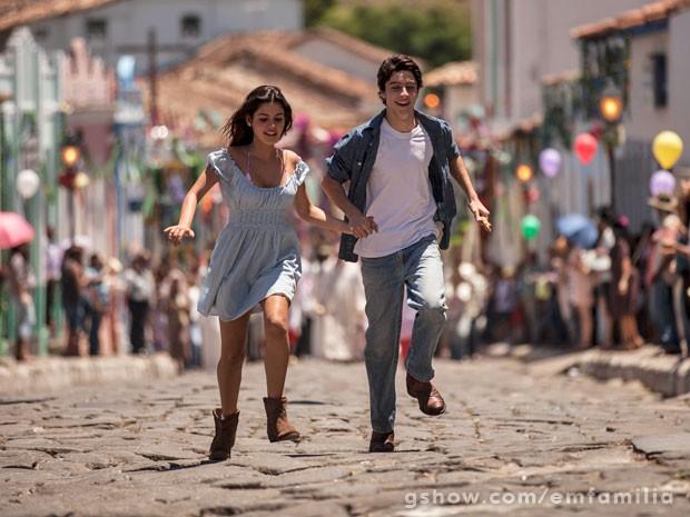 Pirenópolis se transformou na fictícia cidade de Esperança (Foto: Inácio Moraes / TV Globo)