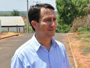 Prefeito eleito Ivan Xixi Paraíso das Águas MS (Foto: Fernando da Mata/G1 MS)