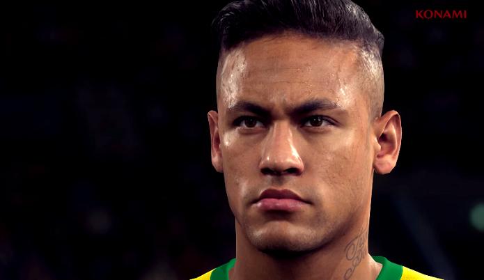 Neymar tem visual impressionante no trailer de PES (Foto: Reprodução/YouTube)