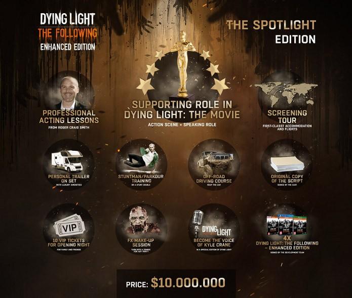 Edição especial de Dying Light custa 10 milhões e dá papel em filme (Foto: Reprodução/Game.co.uk)
