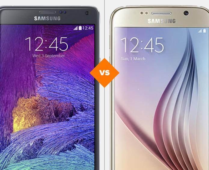 Galaxy Note 4 vs Galaxy S6 (Foto: Arte/TechTudo)
