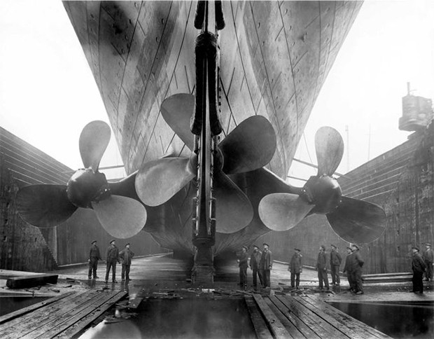 The Titanic in dry dock, c. 1911 (Foto: GETTY)