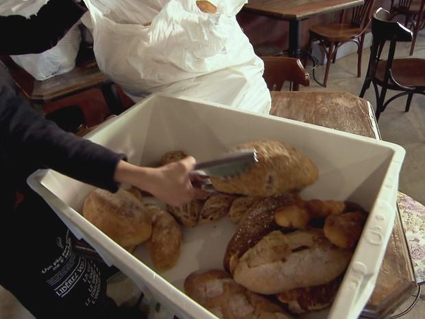 Voluntários alimentam 22 mil pessoas com comida que iria para o lixo (Grep) (Foto: Globo Repórter)