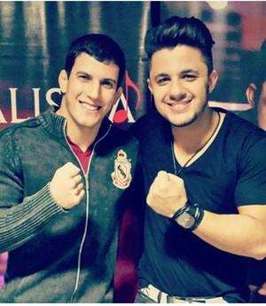 Felipe Sertanejo e Cristiano Araújo UFC (Foto: Arquivo Pessoal)